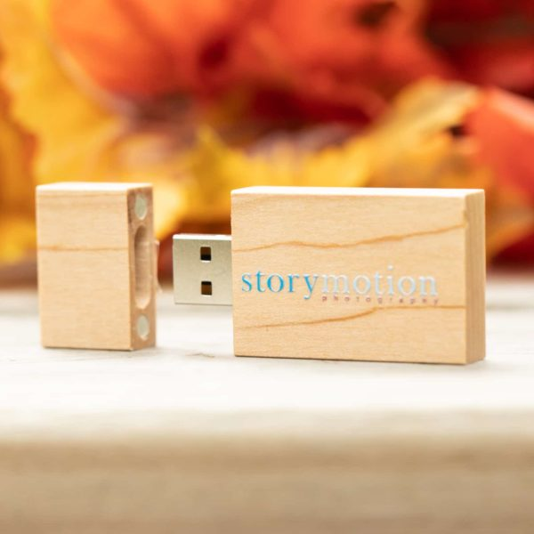 Natural Wood Maple Flash Drive