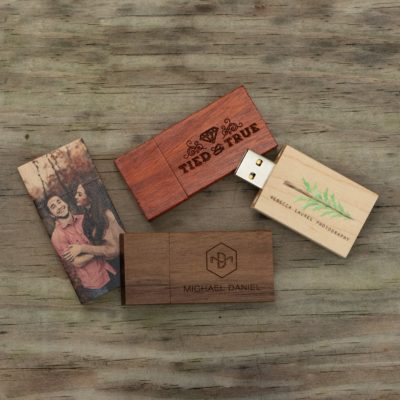 wood flash drives PhotoFlashDrive