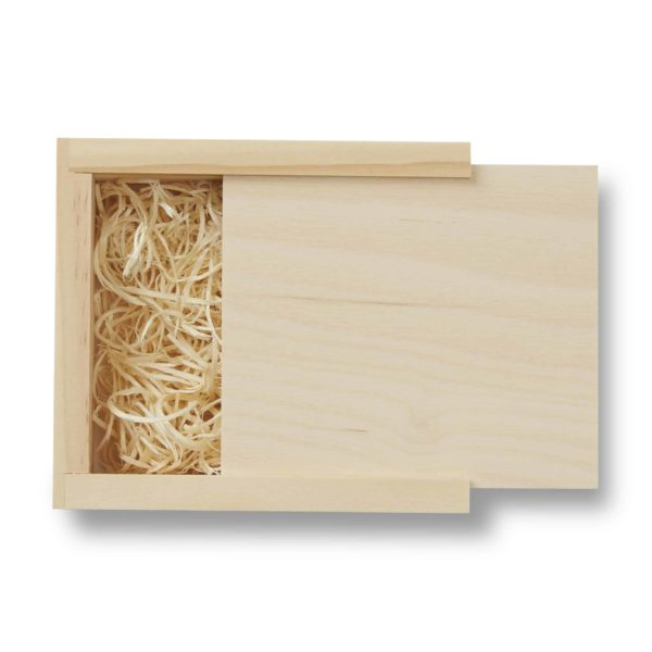 Rustic Wood Slide Flash Drive Box