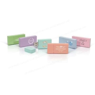 Pastel Wood USB flash drive