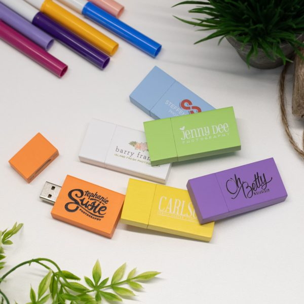 Light and Bright Customizable Flash Drives