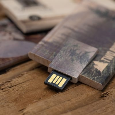 Wood Credit Card USB Flash Drive