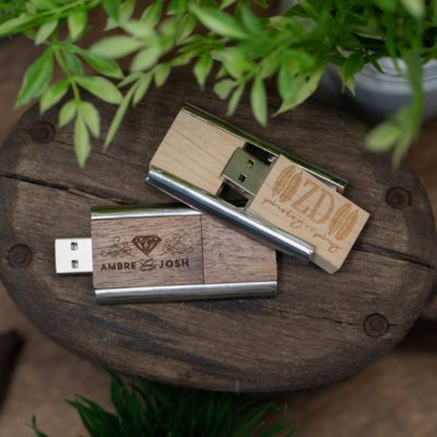 Industrial Wood Flash Drive