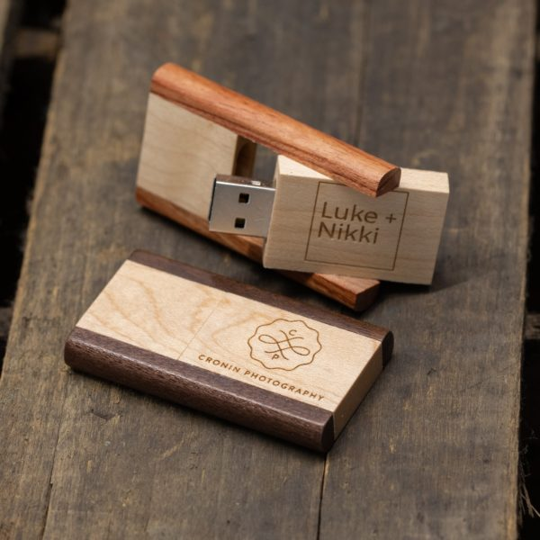 Two-Tone Wood USB Flash Drive