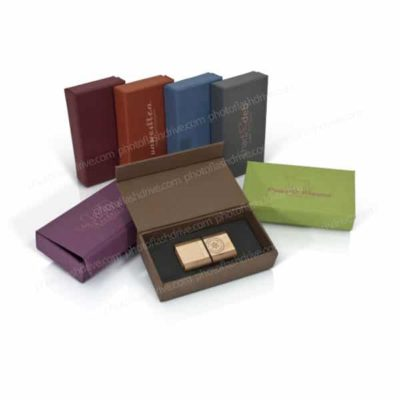 Earth Tone Textured Flash Drive Box