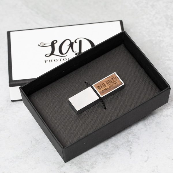 Tailored Linen Flash Drive Box