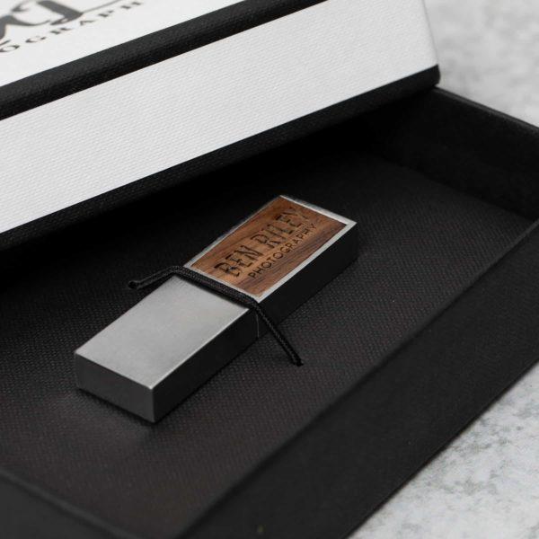 Tailored Linen Flash Drive Box