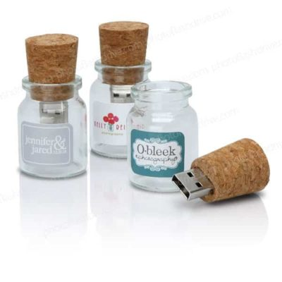 Cork Glass Bottle USB flash drive