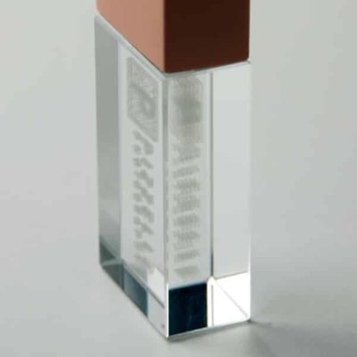 Sub-Surface Engraved Crystal USB flash drive