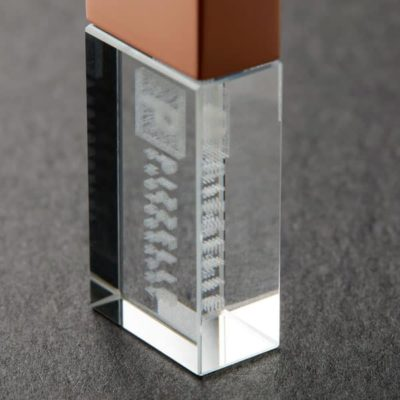 Sub-Surface Engraved Crystal USB flash drive