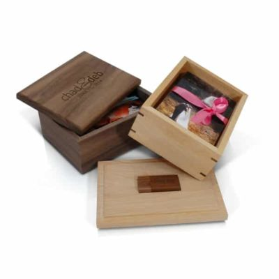 Premium Wood Photo + Flash Box