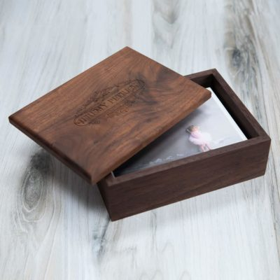 Premium Walnut Photo + Flash Box