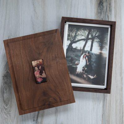 Premium Walnut Photo + Flash Box