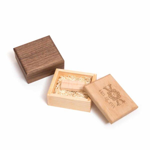 Premium Wood Flash Drive Box