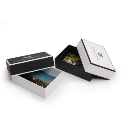 Tailored Linen Print Box PhotoFlashDrive