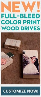 Full Bleed Wood USB Flash Drive