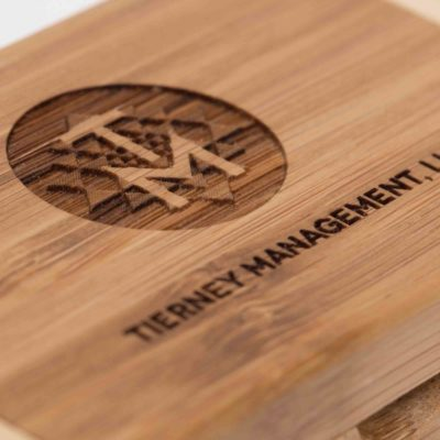 Bamboo Hinged Flash Drive Box