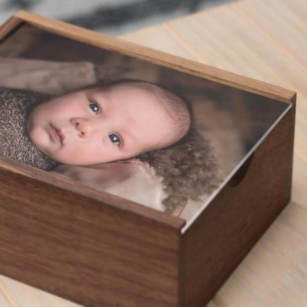 Walnut Wood Slide Keepsake Box