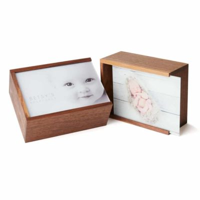 Walnut Wood Slide Keepsake Box