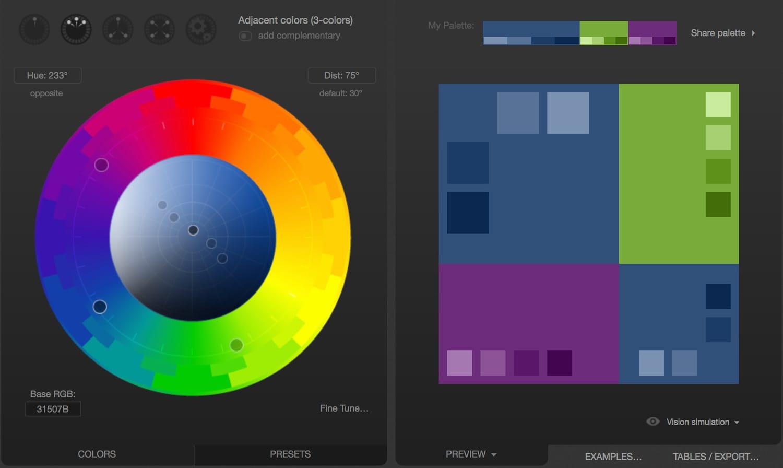 Paletton Color Wheel