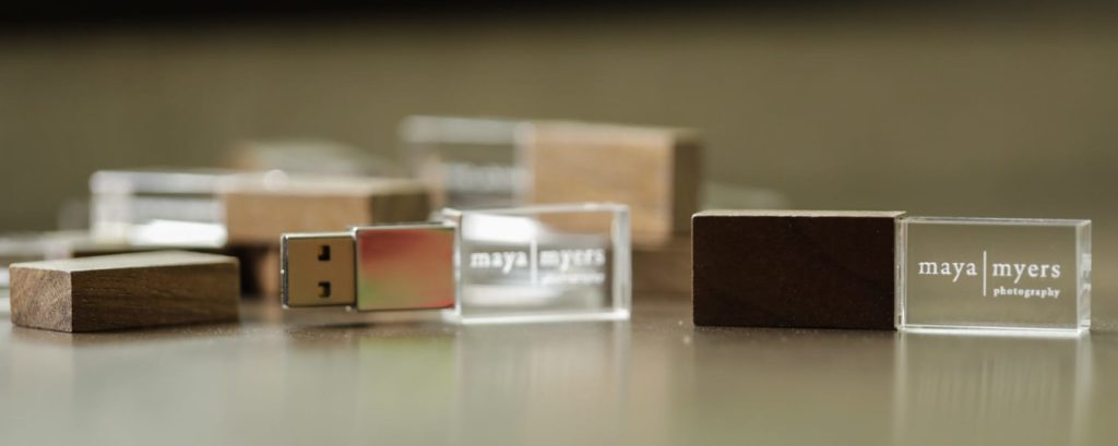 Sub-Surface Engraved Crystal Flash Drives