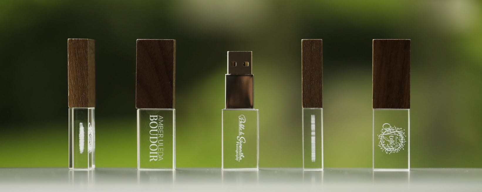sub-surface engraved crystal flash drives PhotoFlashDrive examples
