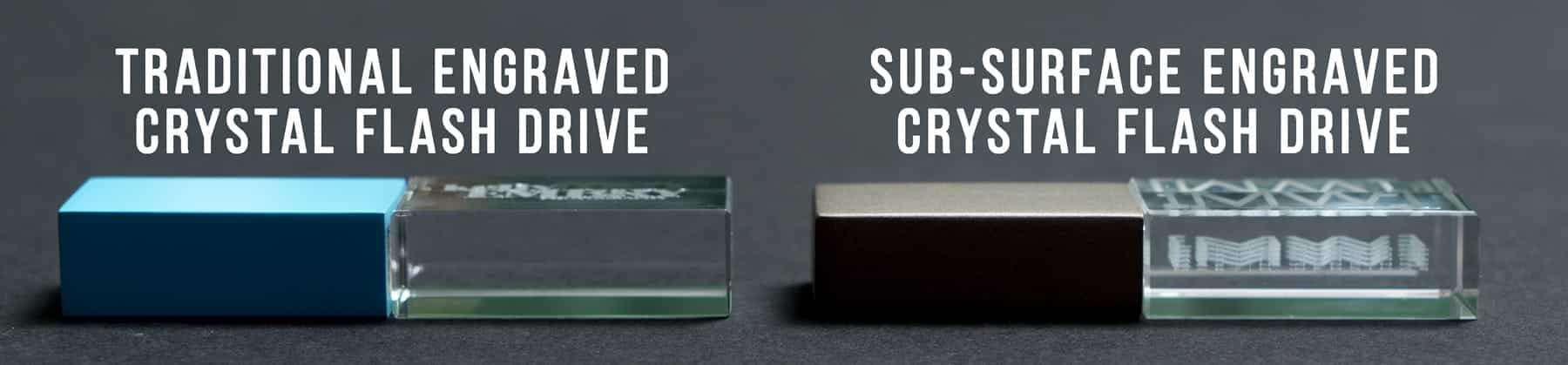 sub-surface engraved crystal flash drives photoflashdrive vs traditional flash drive