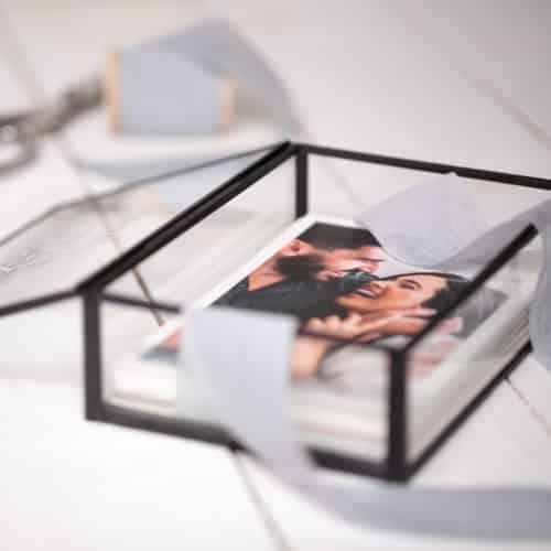 Glass Photo Box Black