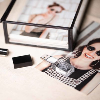 Glass Photo Box Black
