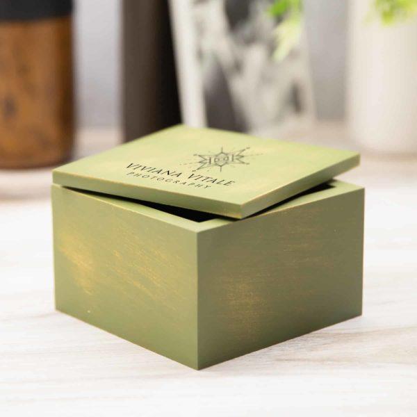 Vintage Flash Drive Box Green