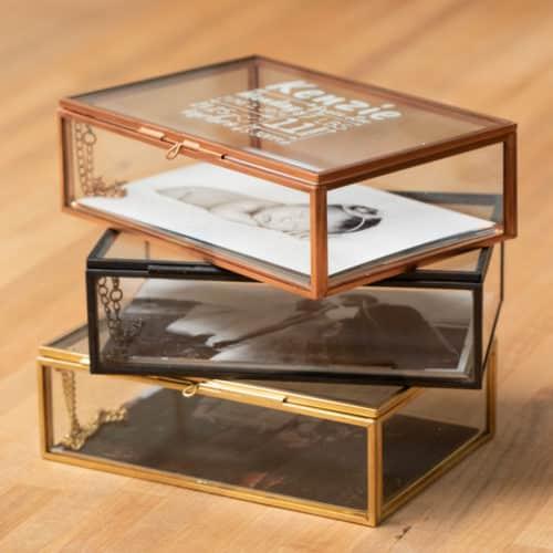 Glass Photo Box