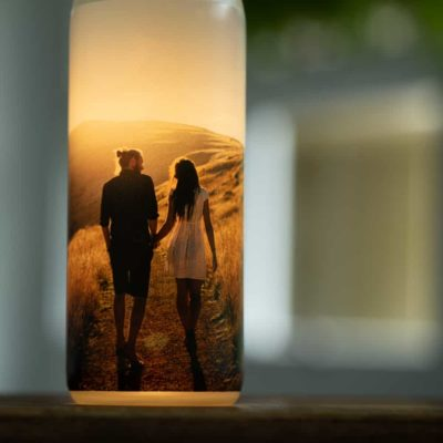 Custom Image Lighted Bottle