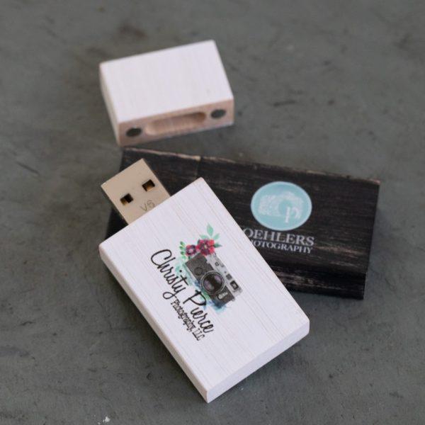 Vintage Wood USB Flash Drive