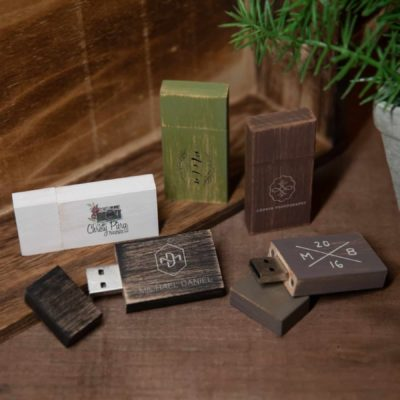 Vintage Wood USB Flash Drive