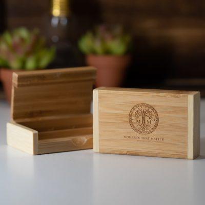 Bamboo Hinged USB Flash Drive Box