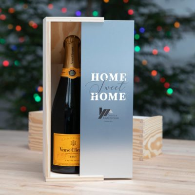 Rustic Wood Slide Champagne Box