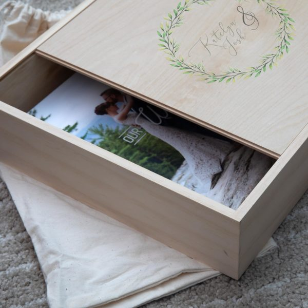 Rustic Wood Slide Album Box