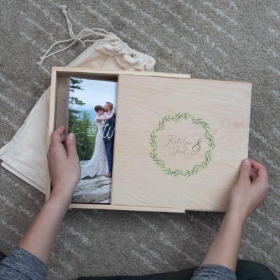 Rustic Wood Slide Album Box
