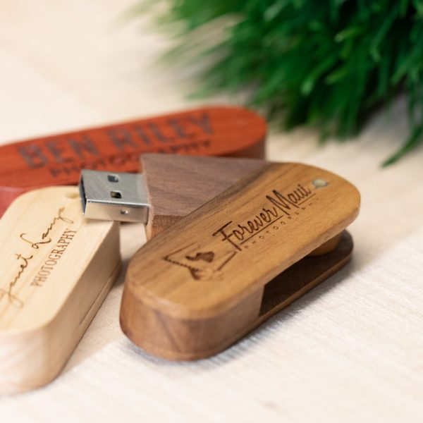 Wood Swivel USB Flash Drive