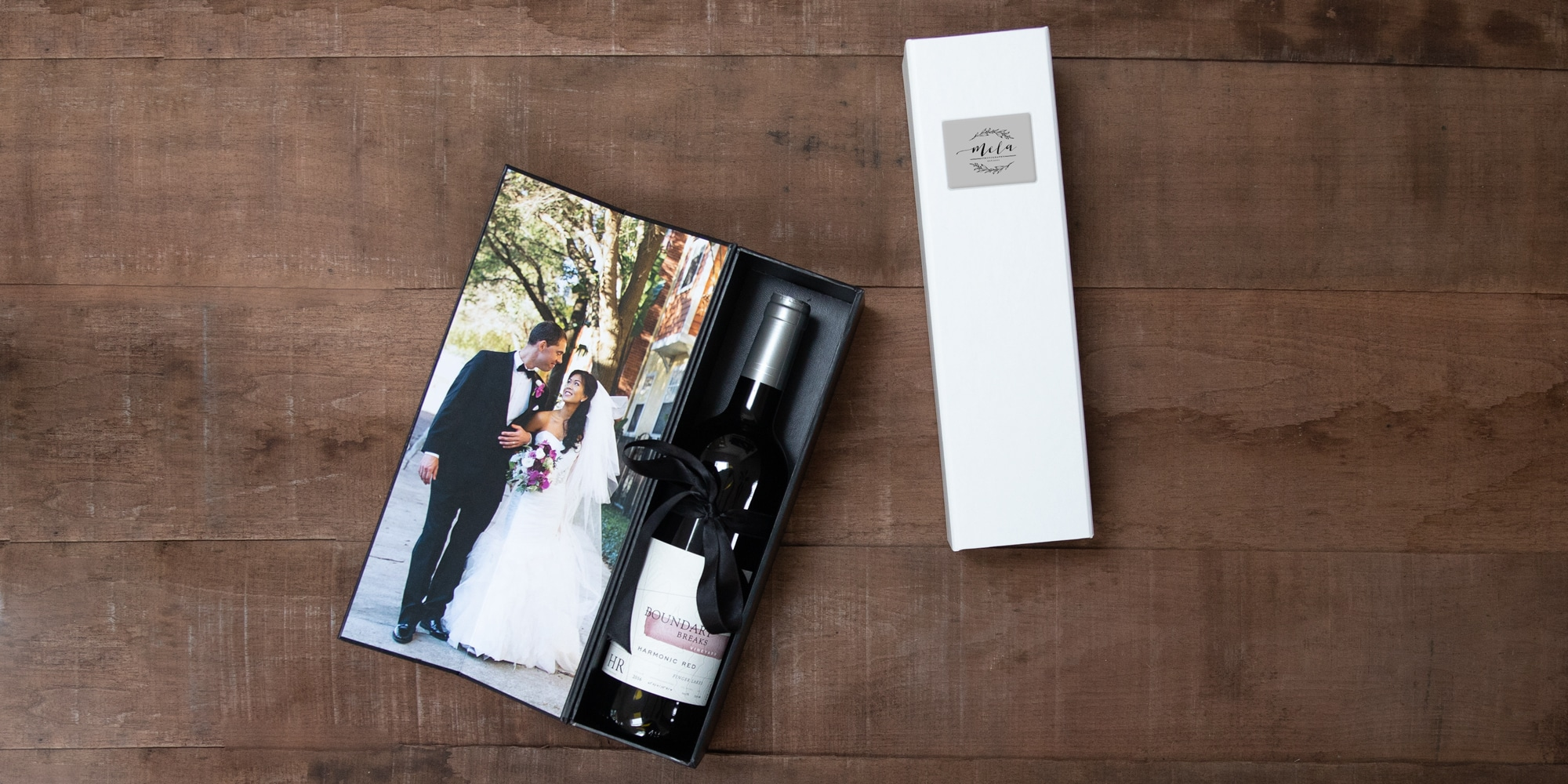 custom image wine and champagne bottle