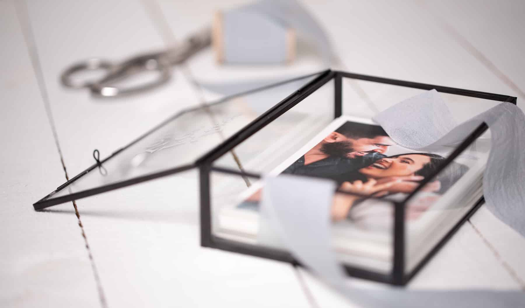 Black Glass Photo Box