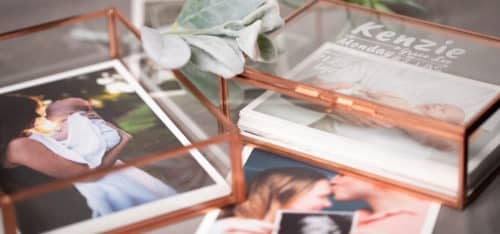 Glass Photo Box Baby