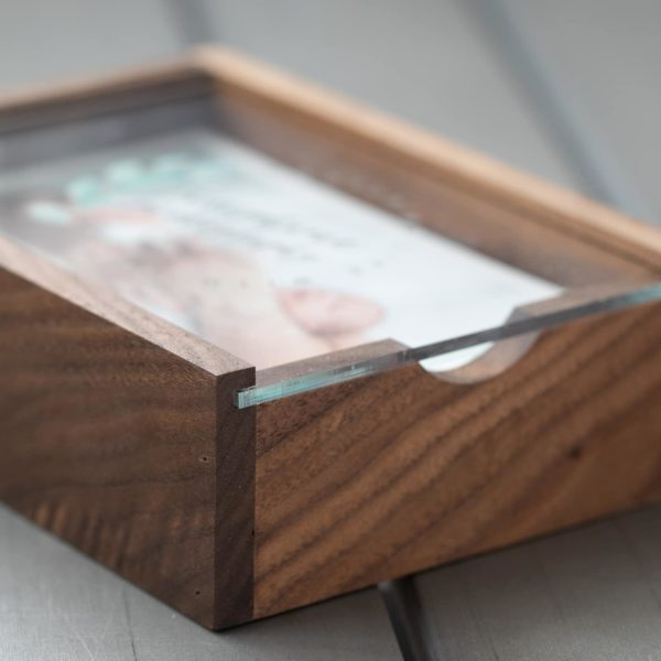 Walnut Wood Slide Photo Box