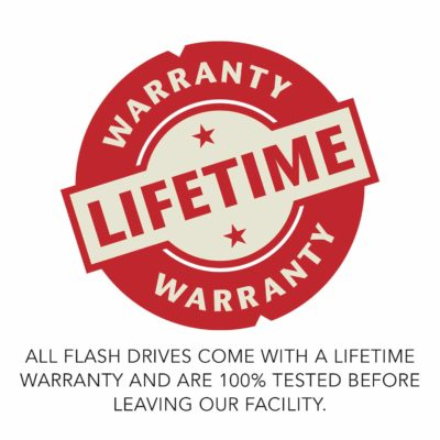 PhotoFlashDrive Flash Lifetime Warranty