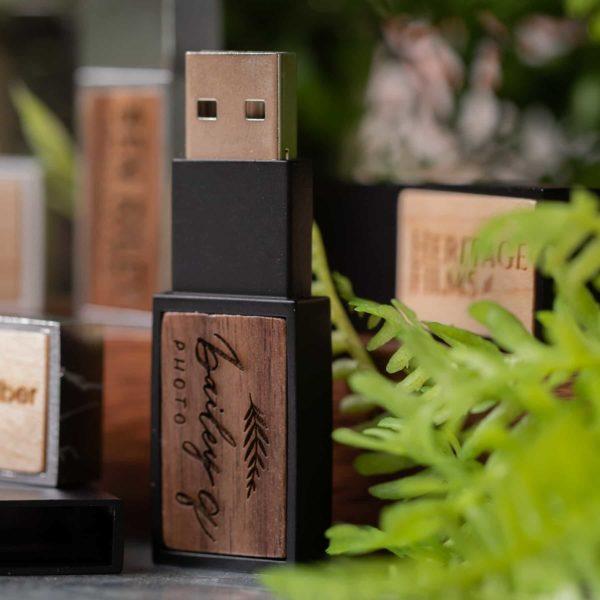 Wood Inlay USB Flash Drive