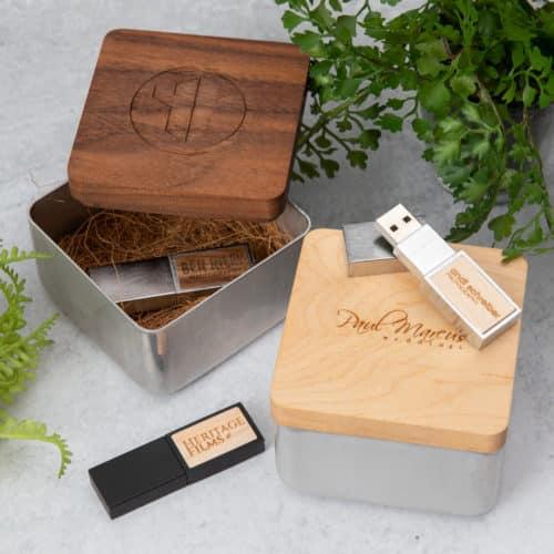 Wood Inlay Drive + Industrial Box Bundle