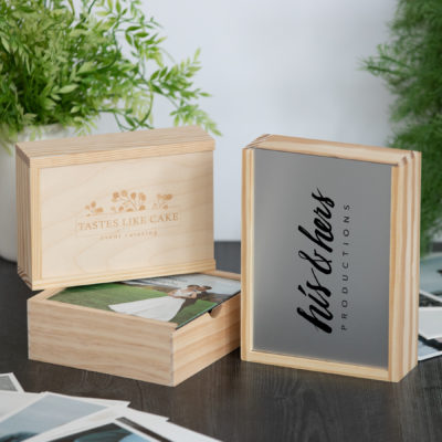 Rustic Wood Slide Photo Box