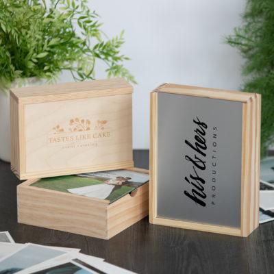 Rustic Wood Slide Photo Box