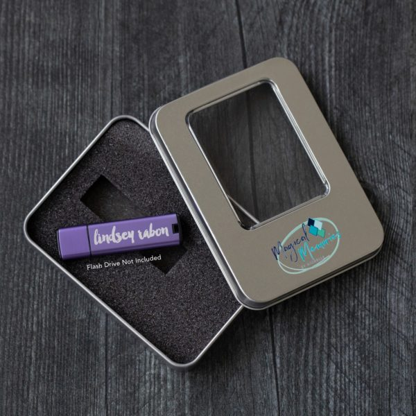 Window Tin Flash Drive Box