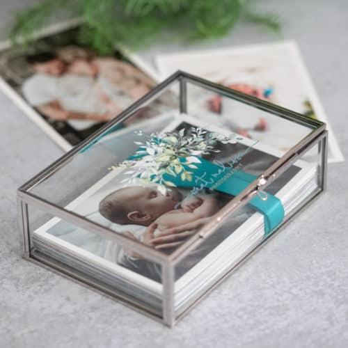 Silver Glass Photo Box